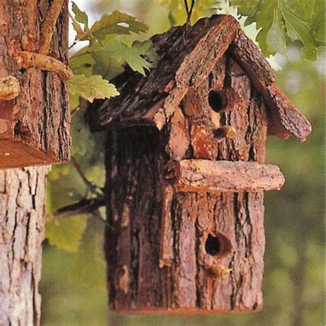 diy bark bird house outdoor design decorating pinterest