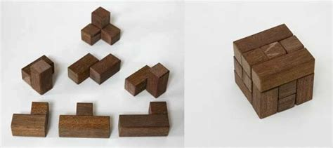 wooden puzzles  plans    soma cube