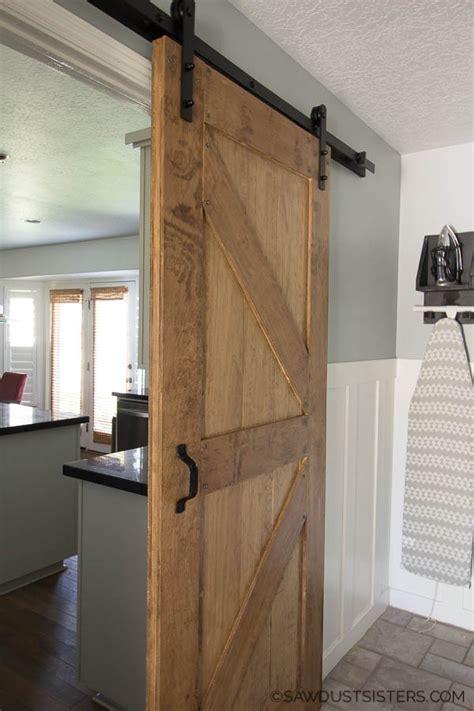 build   sided barn door   diy barn door