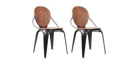 Charmant Chaise De Jardin Noire #1: chaise-metal-noir-et-bois.jpg
