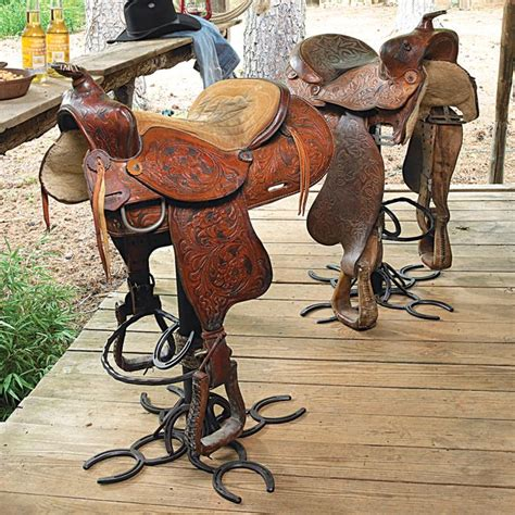 Bar Stools Made From Saddles by 25 Best Ideas About Saddle Bar Stools On Wood