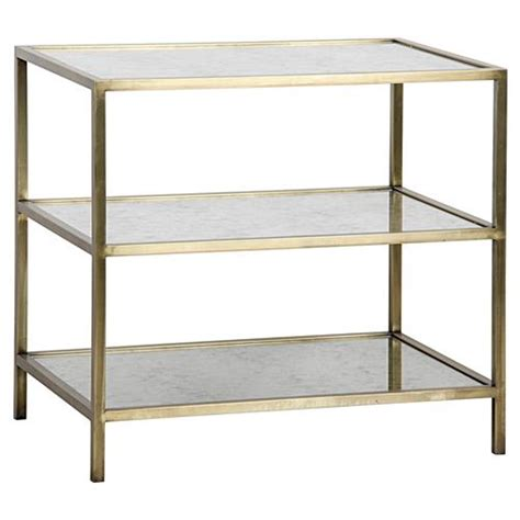 contemporary bedroom side tables tiered side table side mackinley modern 3 tier antique glass brass metal side