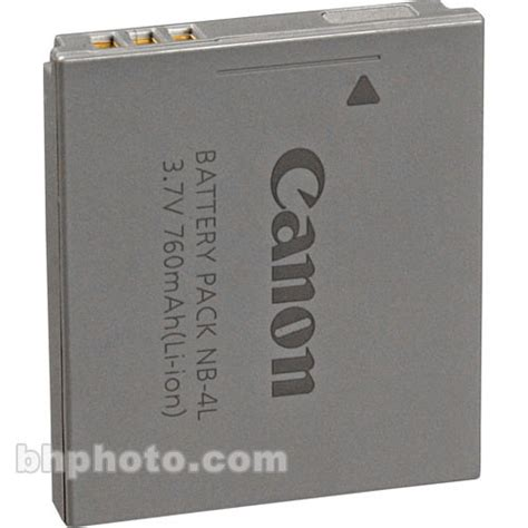 Battery Canon Nb 4l By New Digital canon nb 4l lithium ion battery pack 3 7v 760mah
