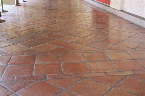 floor and tile decor saltillo floor tile in a diagonal pattern mexican home