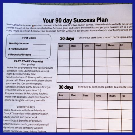 90 day plan template a 90 day success system for your direct sales team