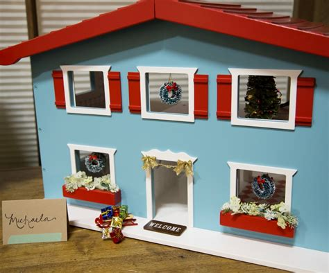 doll house christmas decorations cottage dollhouse christmas decor simplified bee