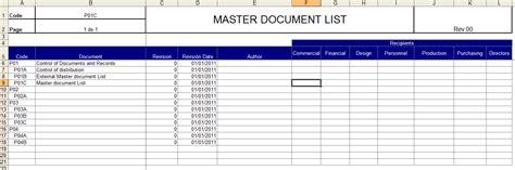 master template list iso 9001 sle quality backupport