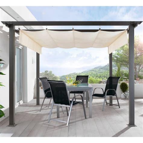 terrasse 4x4 terrassen pavillon pergola aluminiumgestell polyester dach