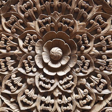 buy balinese carved wood wall panel