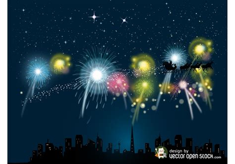 christmas fireworks vector   vector art stock graphics images