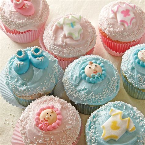 Recipes For Baby Shower Cupcakes by Oh Baby Cupcakes Recipe Myrecipes