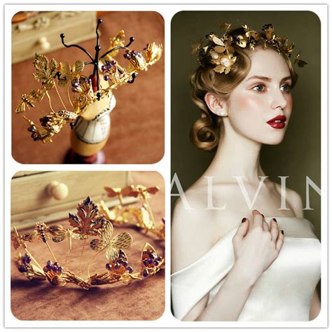 Handmade Bridal Accessories - retro bridal hair accessories wedding headband gold
