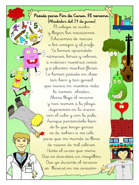 poesias para fin de curso en preescolar y educacin infantil poesias para fin de curso en preescolar y educacin