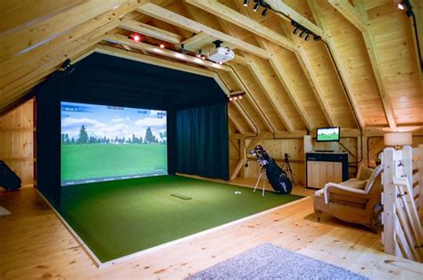 image result  double garage golf simulator