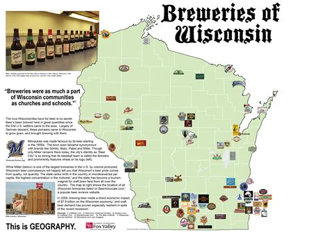 breweries map wisconsin geography search wisconsin