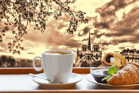 Coffee Croissant France Paris Cup breakfast Food Cities