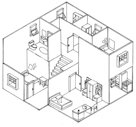 draw a diagram isometric building drawing www imgkid the image