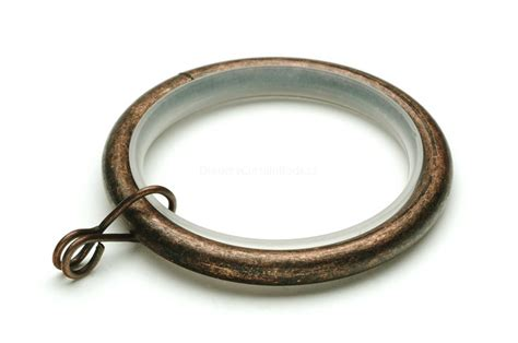 Artistic Drapery Dark Copper Decorative Curtain Rod Rings Urg Dc