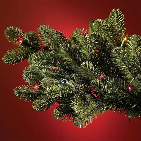 the world s best prelit noble fir 4 5 full hammacher