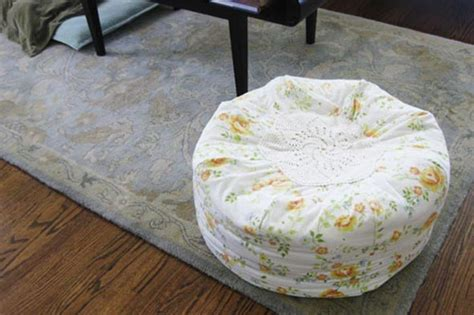 homemade pouf ottoman how to