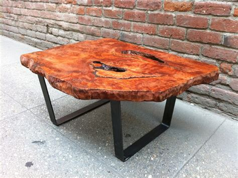 redwood burl live edge coffee table p10043 rustic