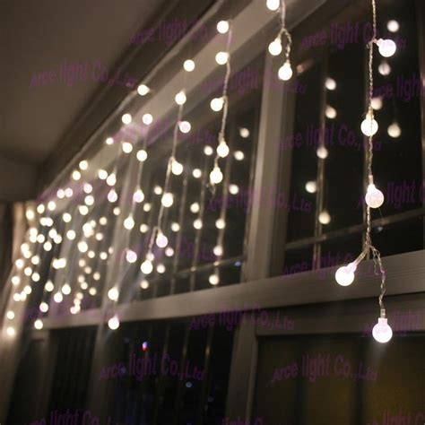 warm white led ball icicle curtain light need lots of
