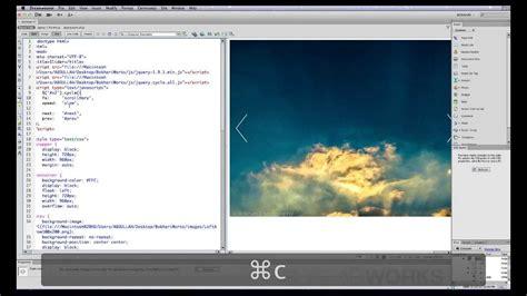 dreamweaver tutorial gallery how to create a beautiful image slider slideshow from