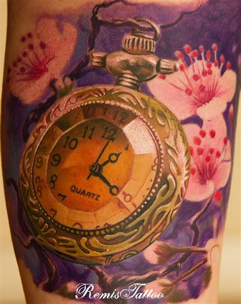 old pocket watch tattoo designs relistic pocket by remistattoo on deviantart