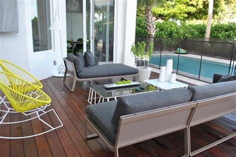 Dkor Interiors A Modern Miami Home Interior Design Patio Interior Design