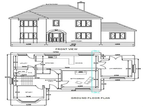 house design autocad download free dwg house plans autocad house plans free download