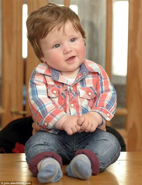 haircut styles for 4 month old six month old fergus hillman has already needed his hair