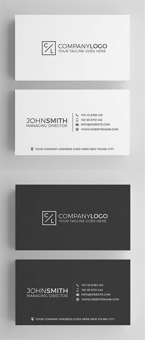 minimal business card template 25 minimal clean business cards psd templates idevie