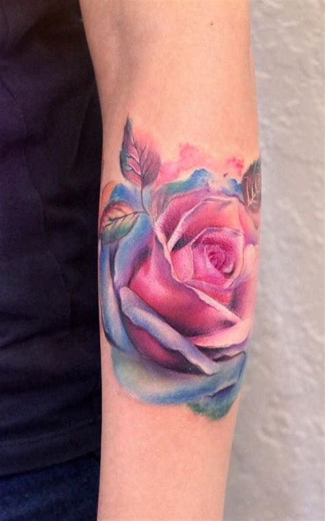 crazy rose tattoos watercolor by yershova