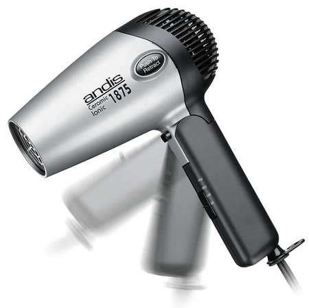 Andis 1875w Hair Dryer W Attachments andis hair dryer handheld black silver 1875 w rc 2