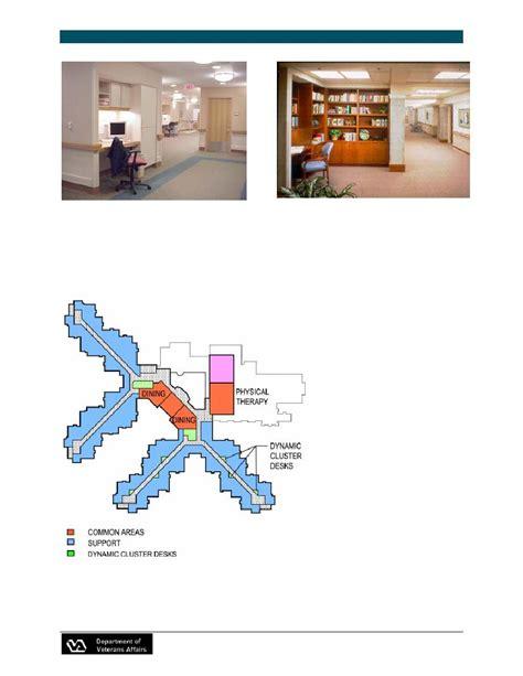 Va Nursing Home Design Guide Figure 3 22 Dynamic Cluster Desk
