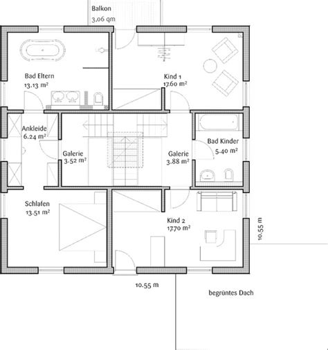 Grundriss Quadratisches Haus by Modernes Fertighaus Fischerhaus Toskanahaus Magnolie