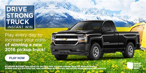 Shop Your Way Sweepstakes - shop your way drive strong truck sweepstakes