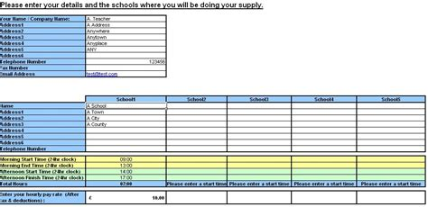 teacher resource supply teacher timesheet and invoice