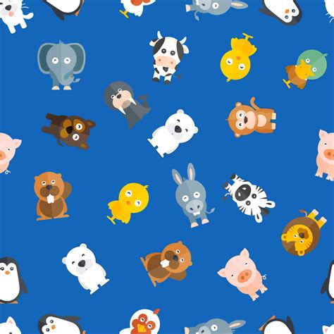 animal pattern brush photoshop pattern with baby animals photoshop vectors