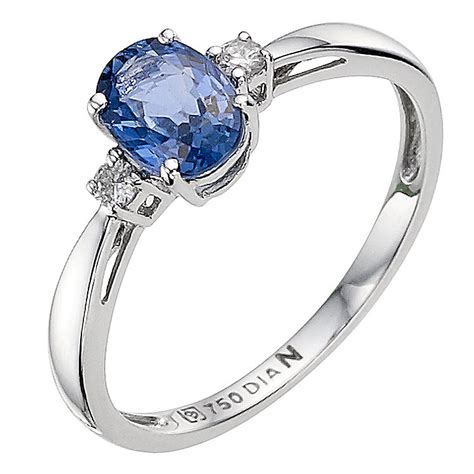 18ct white gold sapphire and ring ernest jones
