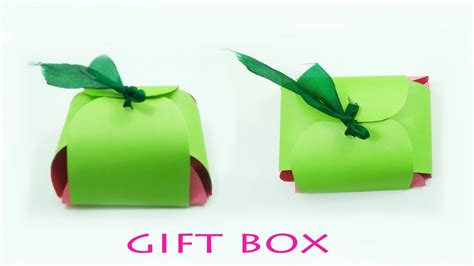 How To Make Handmade Paper Gift Boxes - how to make a handmade gift box gift box tutorial