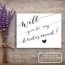 free bridesmaid invitation templates bridesmaid card printable quot will you be my bridesmaid