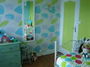 chambre de couleur anis et turquoise and co