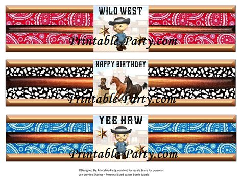 blank printable invitations cowboy western theme party decorations