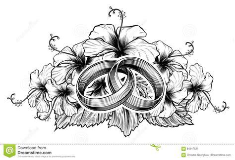 Eheringe Floral by Eheringe Und Hibiscus Blumen Vektor Abbildung