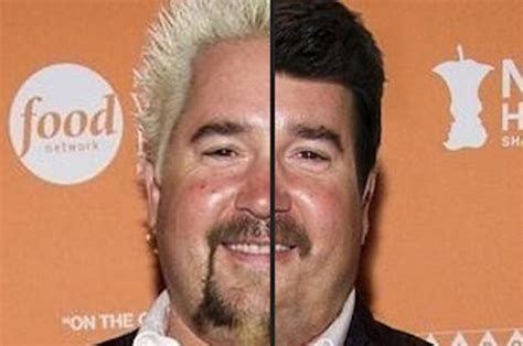 white frosted tips guys guy fieri without his trademark hair will forever change you