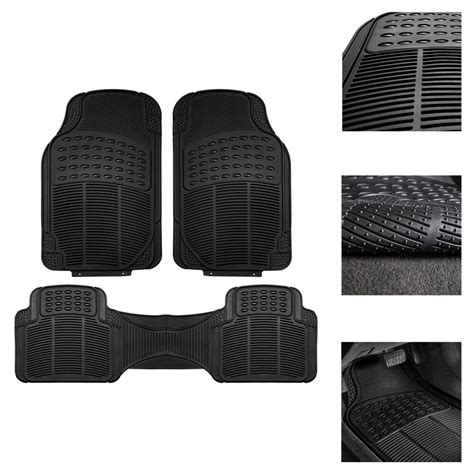 rubber mats for sale car floor mats for all weather rubber 3pc set tactical fit