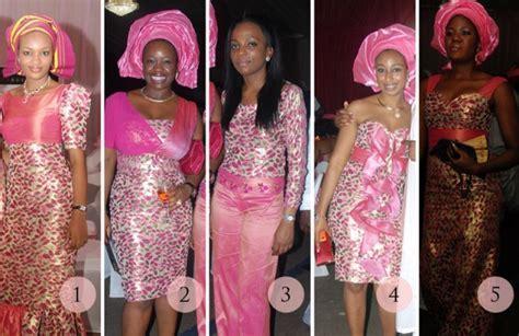 Aso ebi Face off: Pink Petal Power   Sugar Weddings & Parties