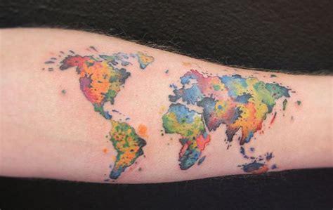 world map tattoo wrist 26 amazing world map for for wrist