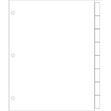 avery print on tabs template templates print on wide format dividers 8 tab portrait